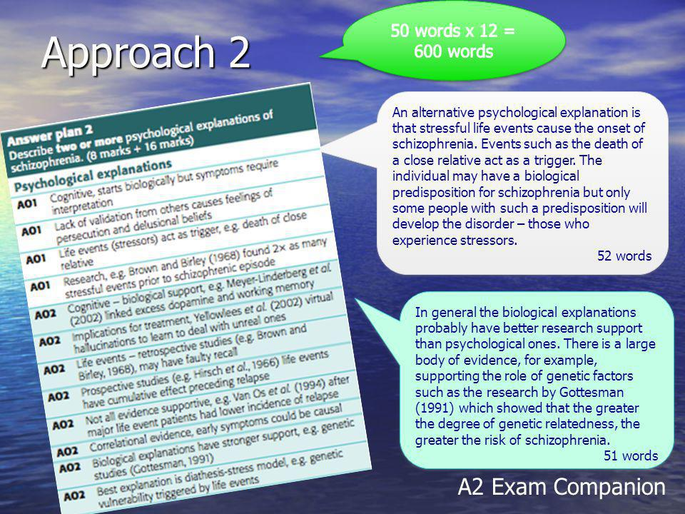 Approach 2 A2 Exam Companion 50 words x 12 = 600 words