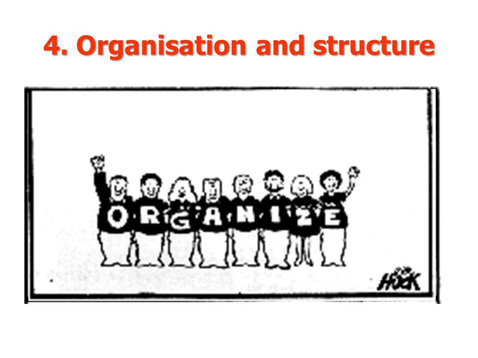 4. Organisation and structure
