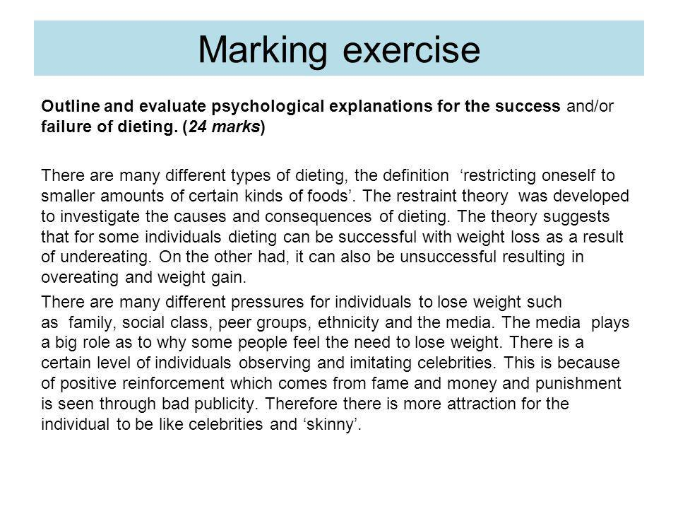 Marking exercise
