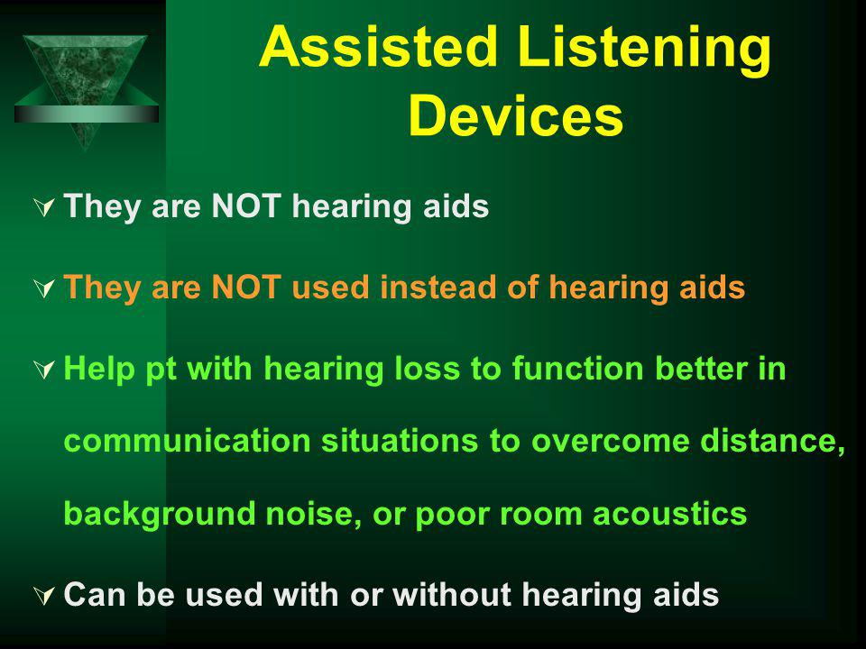 Assisted Listening Devices