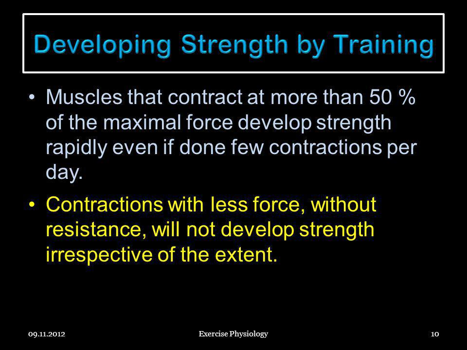 Developing Strength by Training