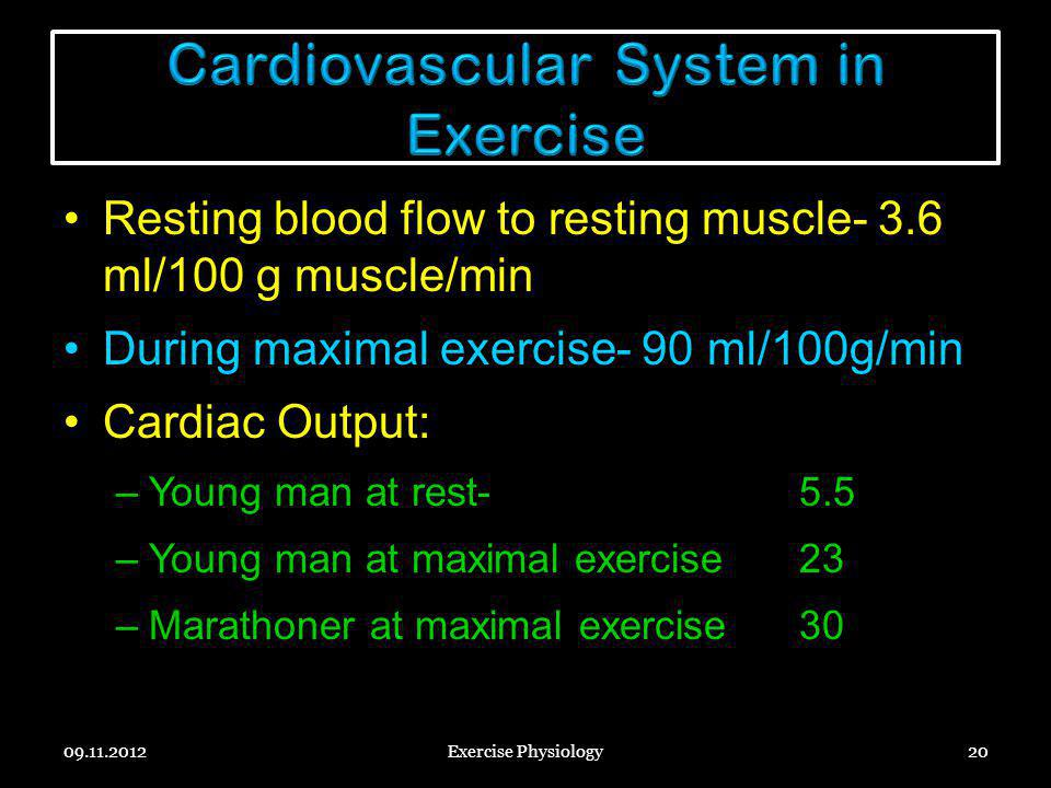 Cardiovascular System in Exercise