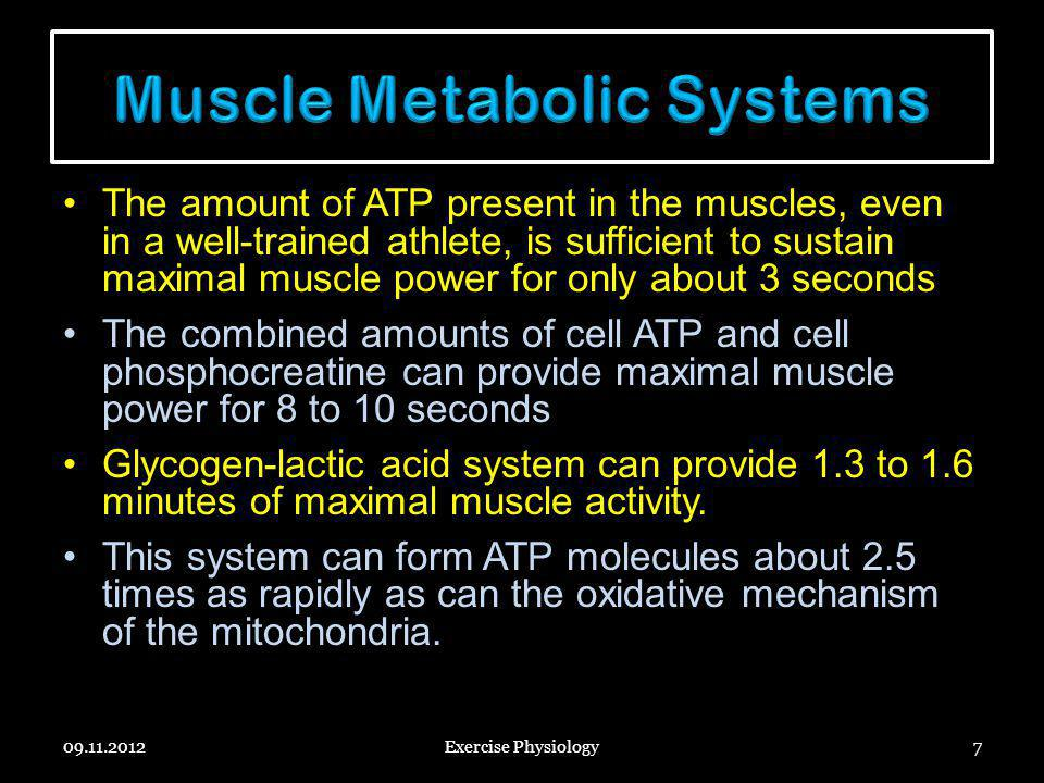Muscle Metabolic Systems