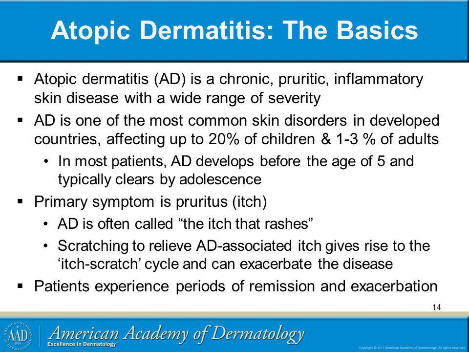Atopic Dermatitis: The Basics