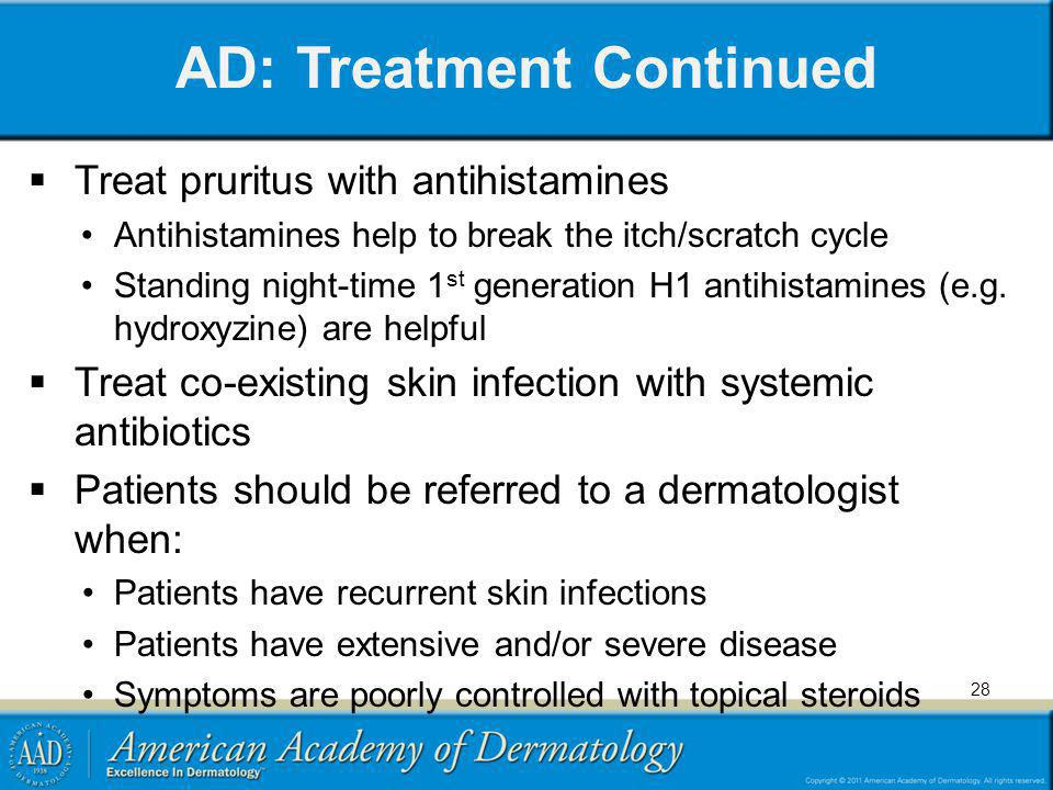 AD: Treatment Continued