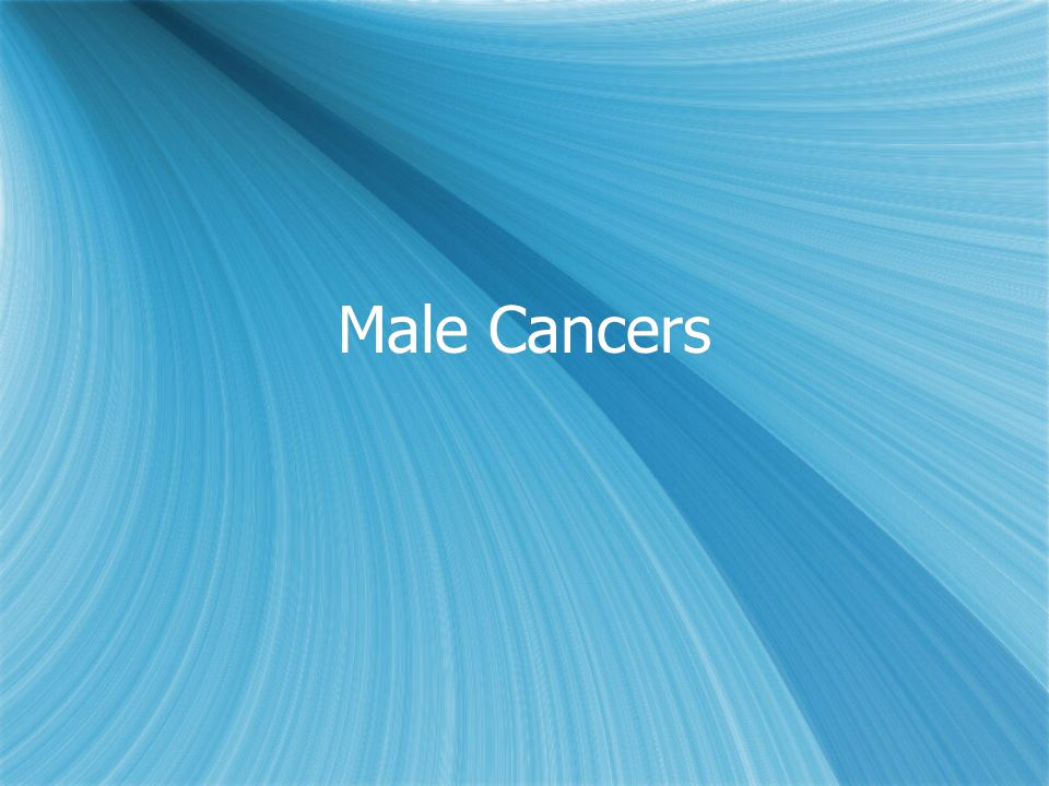Male Cancers