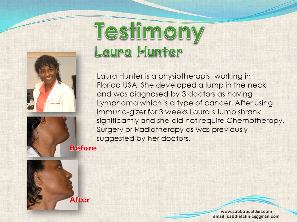 Testimony Laura Hunter Laura Hunter is a physiotherapist working in
