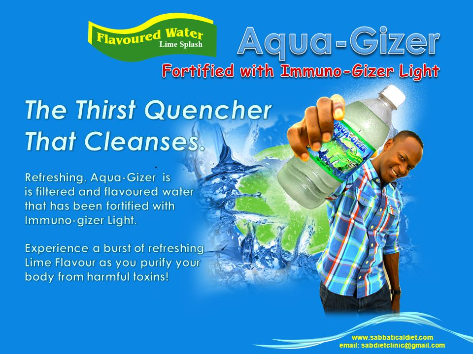 Aqua-Gizer The Thirst Quencher That Cleanses.