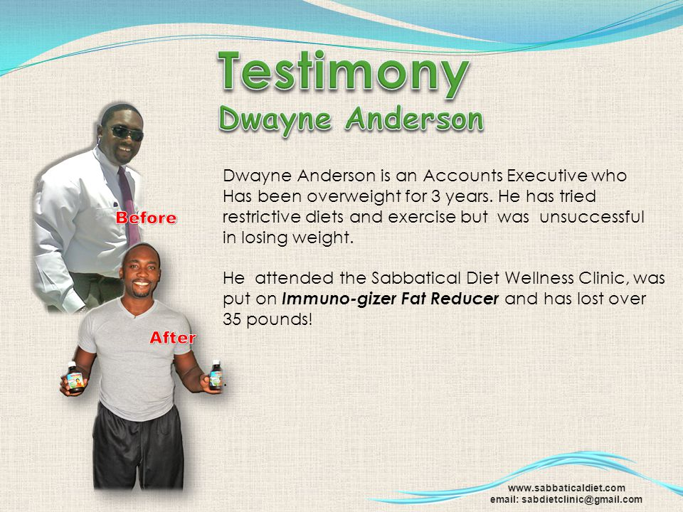 Testimony Dwayne Anderson Dwayne Anderson is an Accounts Executive who
