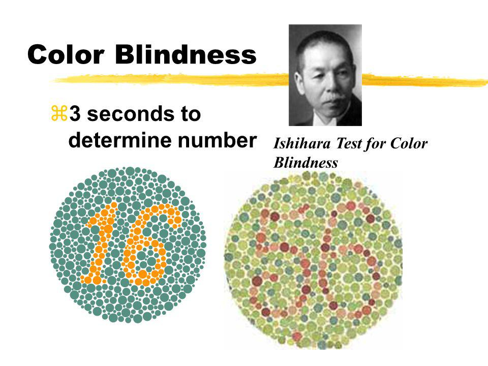 Color Blindness 3 seconds to determine number