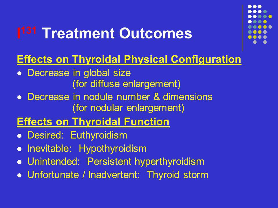 I131 Treatment Outcomes Effects on Thyroidal Physical Configuration