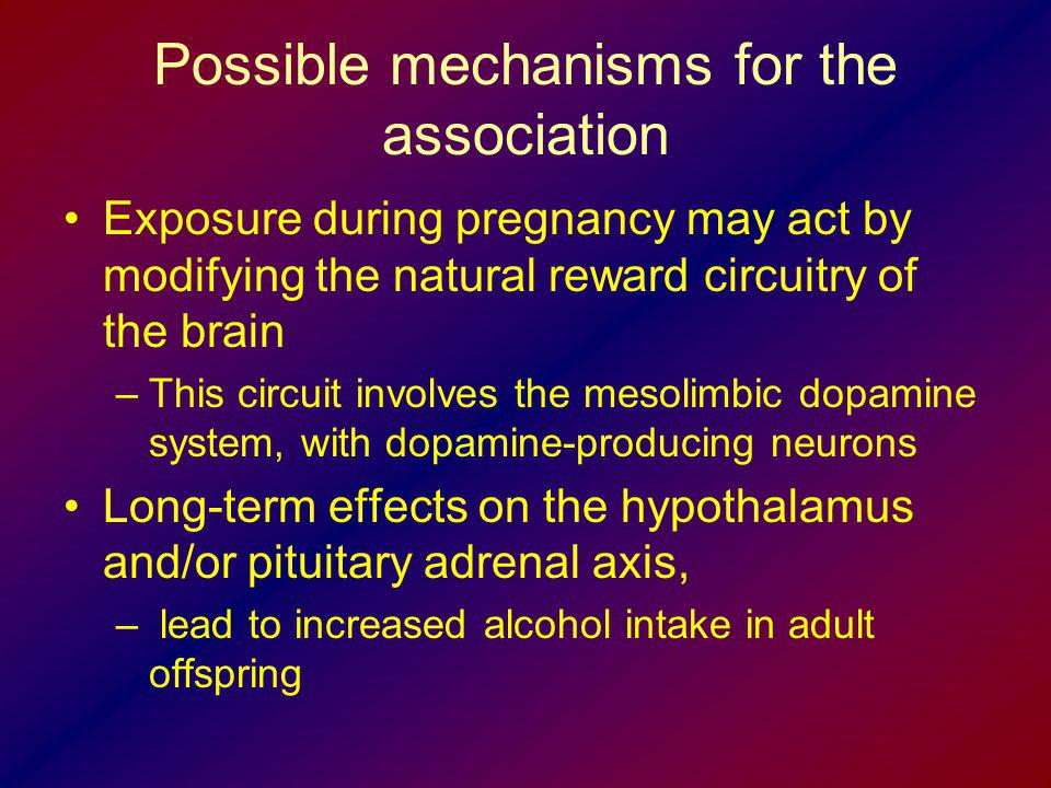Possible mechanisms for the association