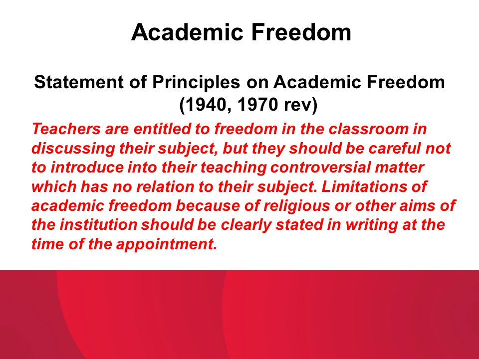 Statement of Principles on Academic Freedom (1940, 1970 rev)