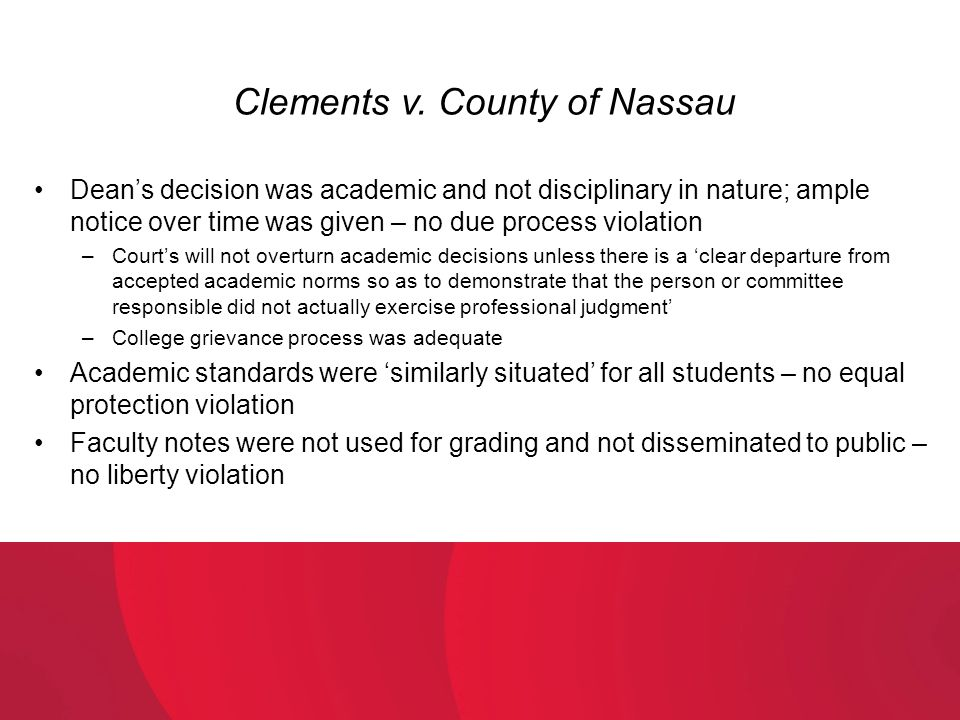 Clements v. County of Nassau