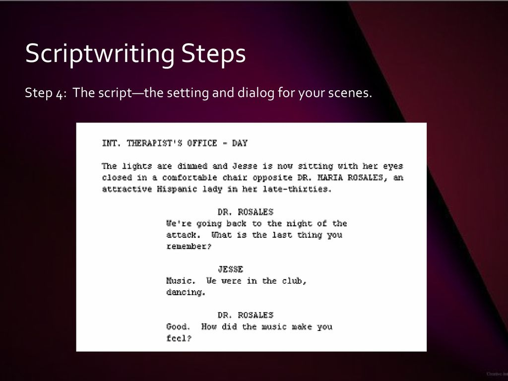 Script Writing, Story Boarding, and Site Selection Issues