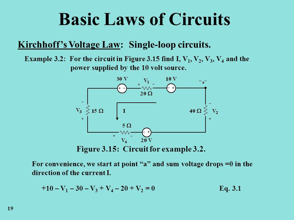 basic laws of electric circuits kirchhoff\u0027s voltage law ppt videobasic laws of circuits kirchhoff\u0027s voltage law single loop circuits
