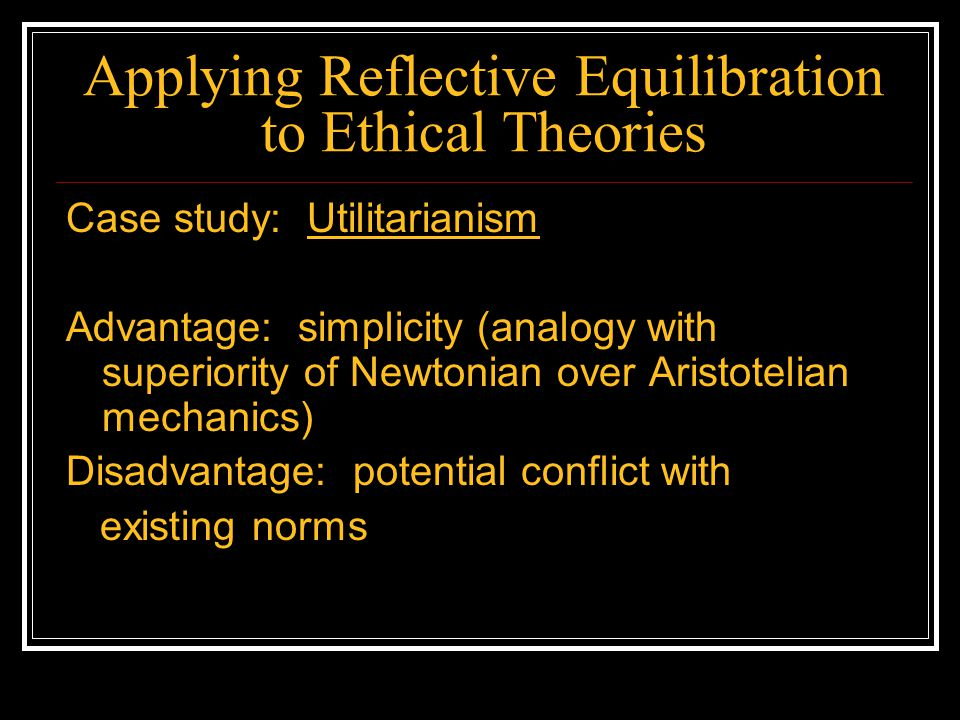 Applying Reflective Equilibration to Ethical Theories