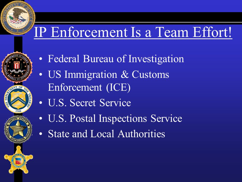 IP Enforcement Is a Team Effort!