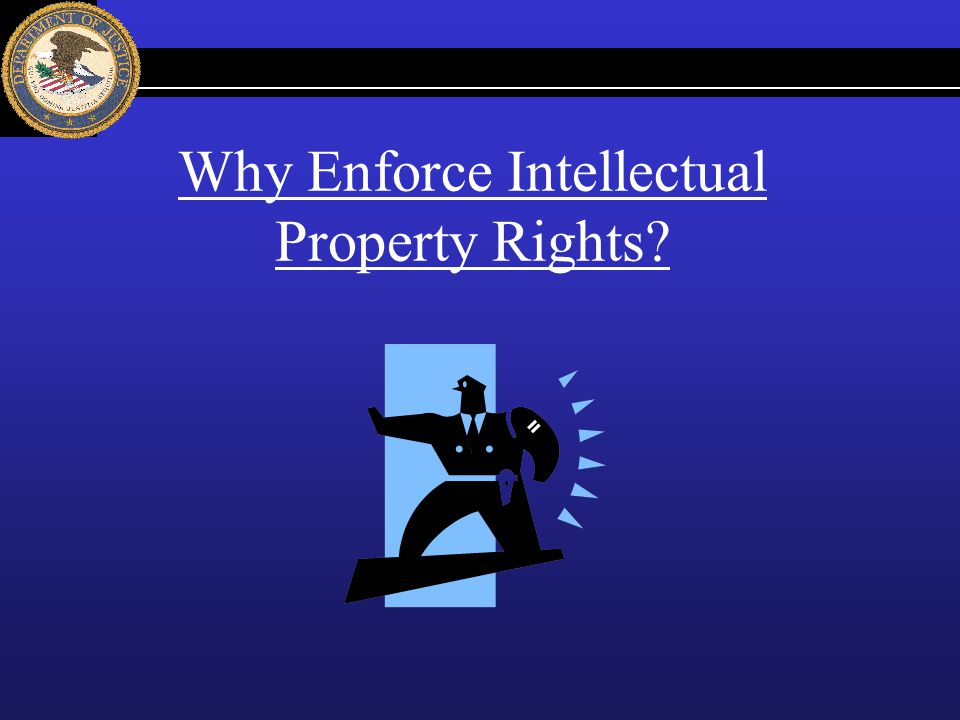 Why Enforce Intellectual Property Rights