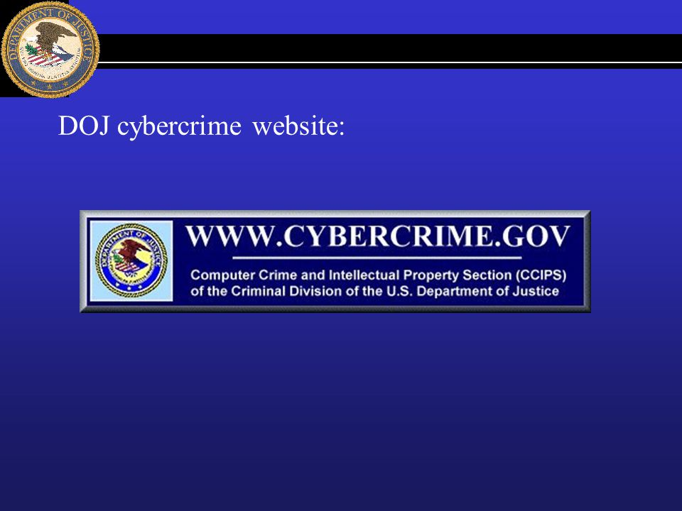 DOJ cybercrime website: