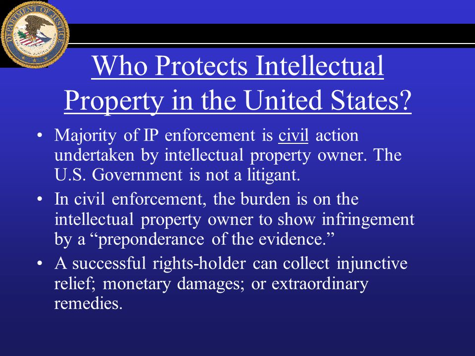 Who Protects Intellectual Property in the United States