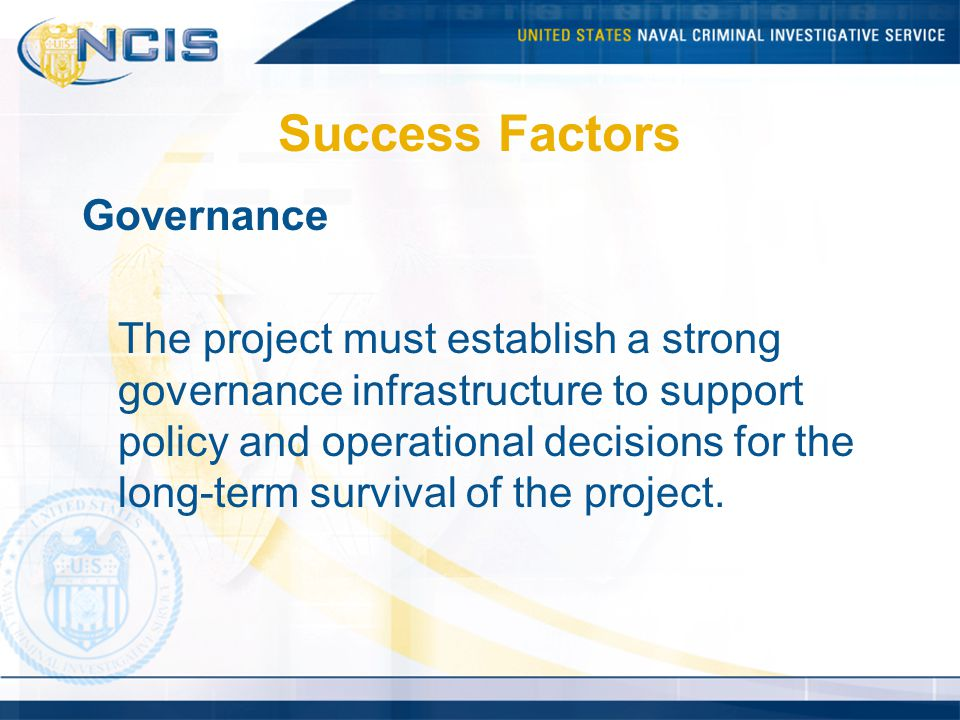 Success Factors Governance
