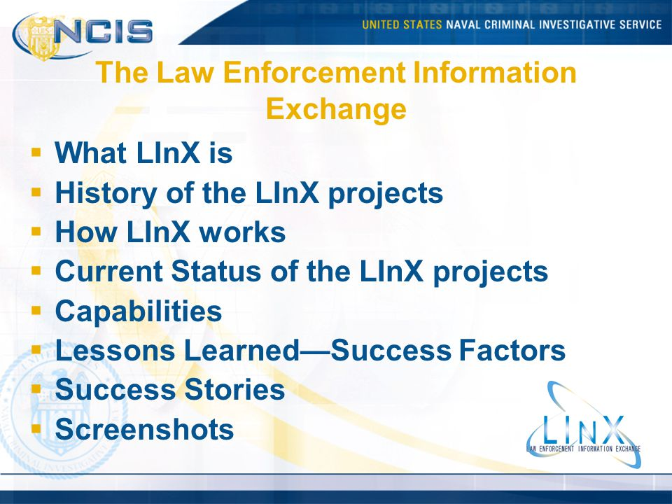 The Law Enforcement Information Exchange