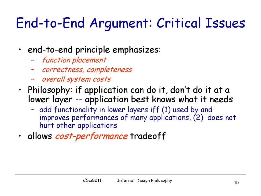 Internet Architecture: Design Philosophy -Then and Now - ppt