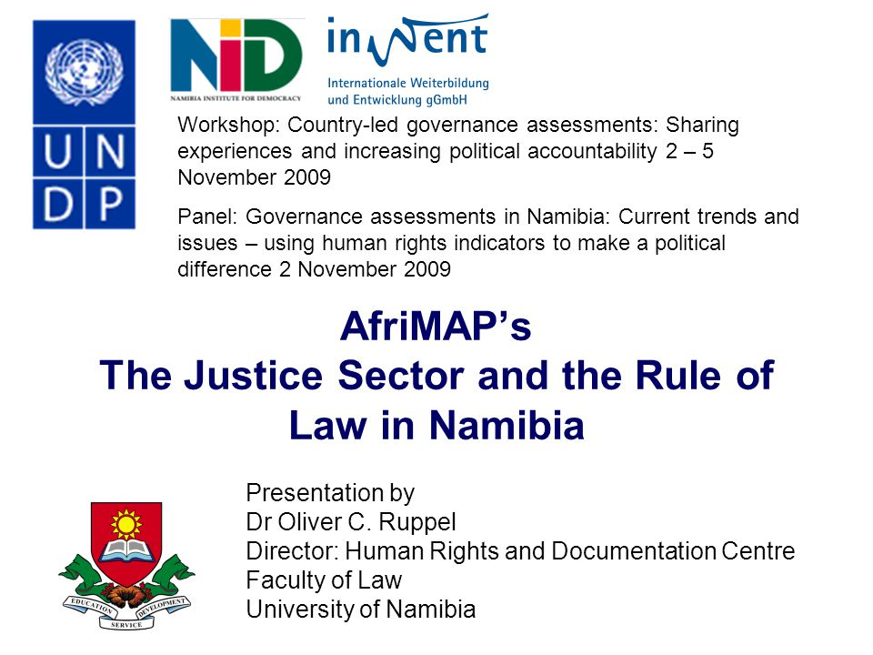 AfriMAP's The Justice Sector and the Rule of Law in Namibia