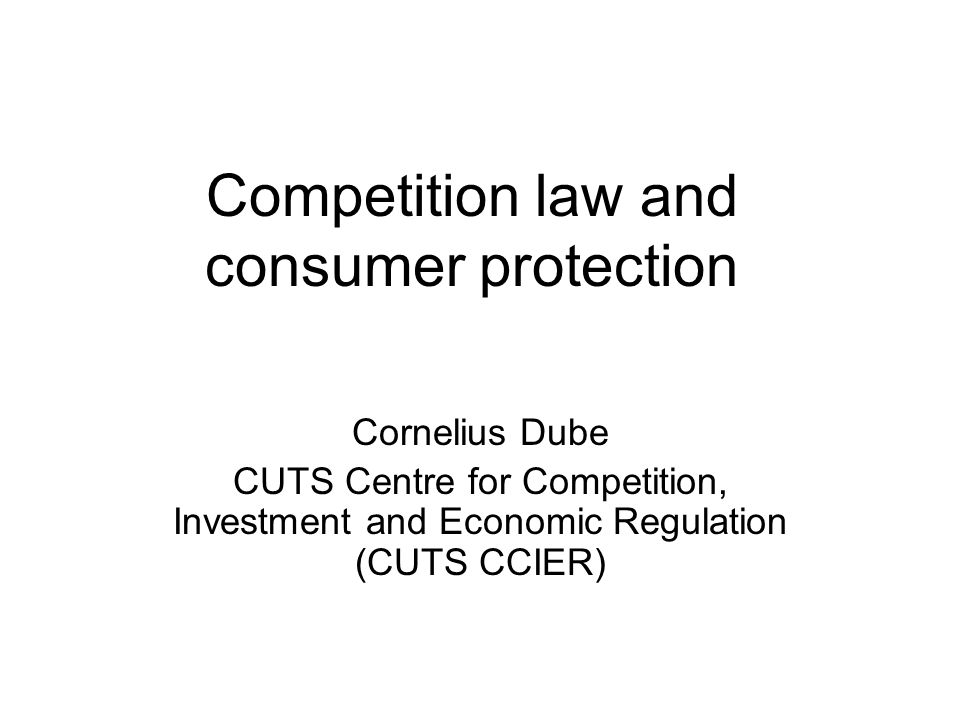 Competition law and consumer protection