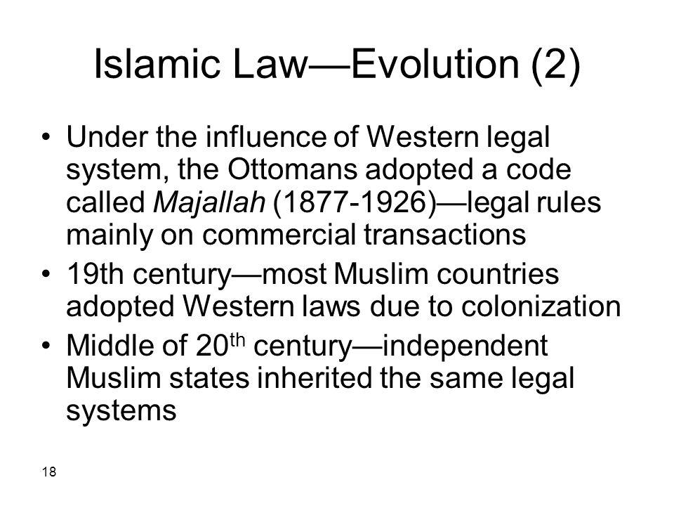 Islamic Law—Evolution (2)
