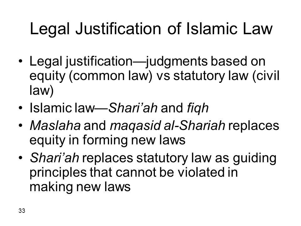 Legal Justification of Islamic Law