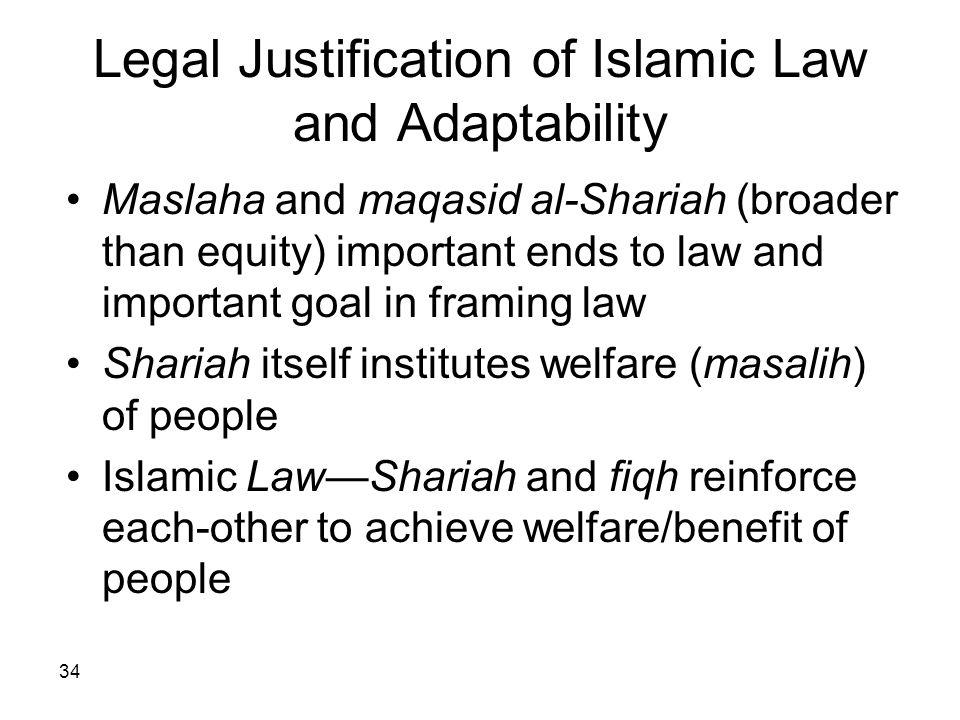 Legal Justification of Islamic Law and Adaptability