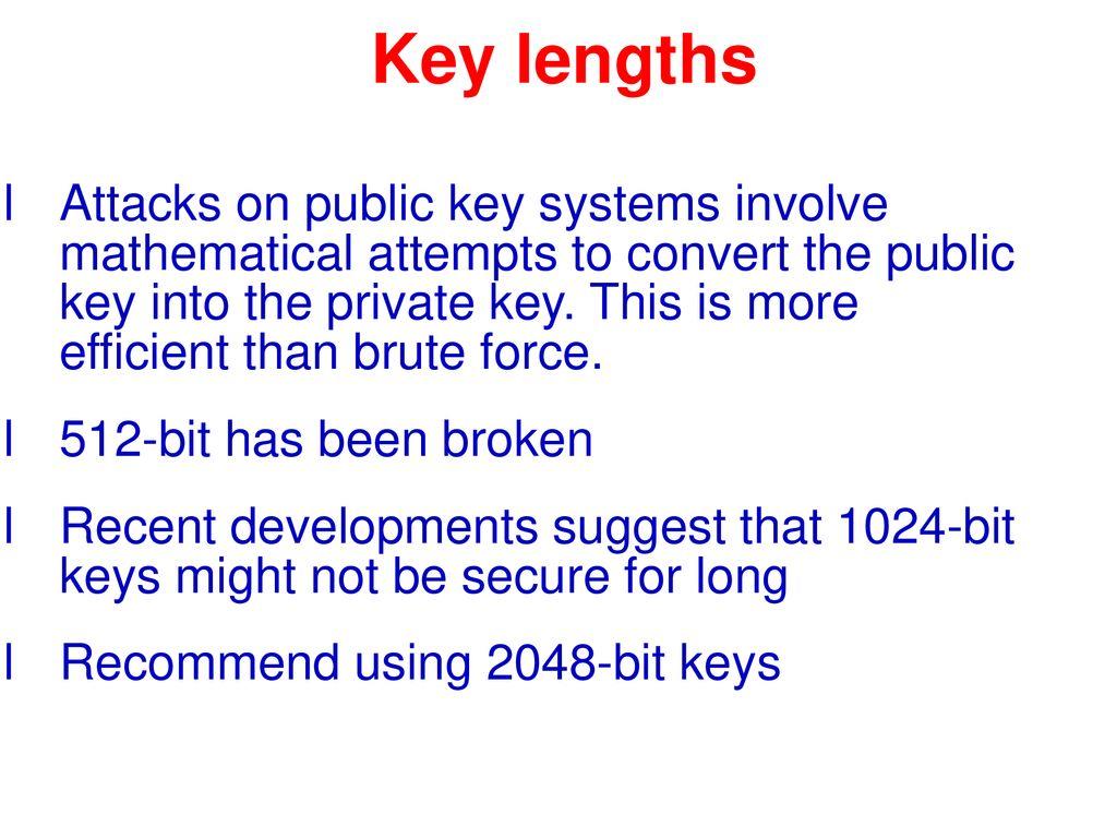 2048 bit key brute force