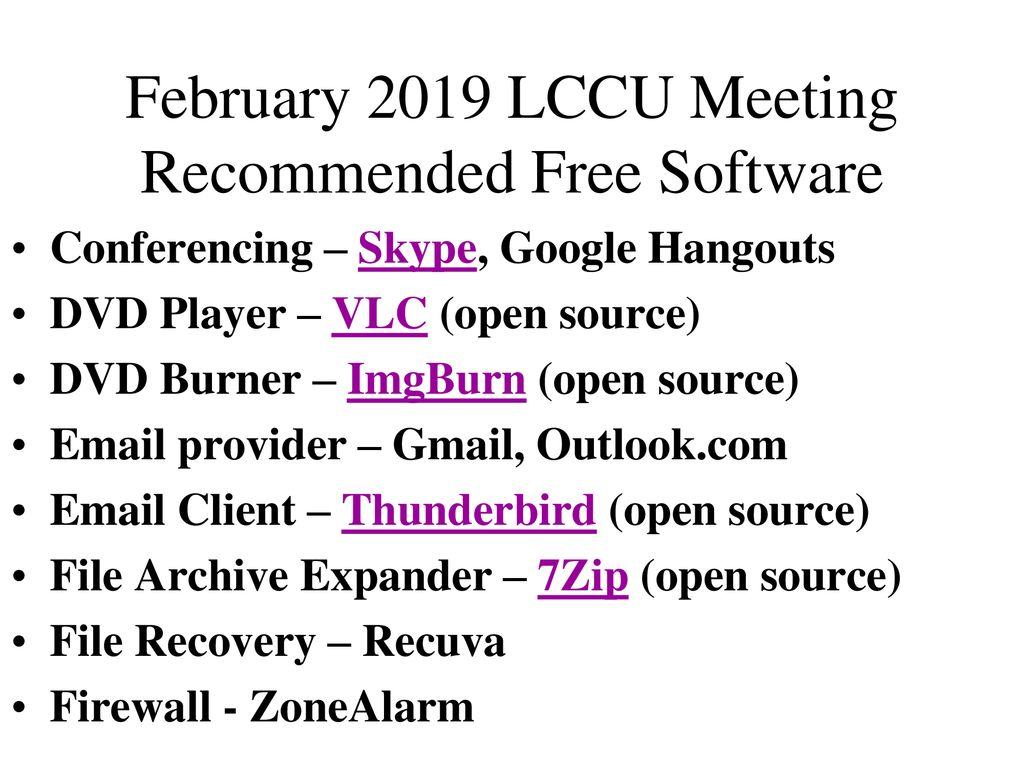 February 2019 LCCU Meeting We'll answers members' questions: - ppt