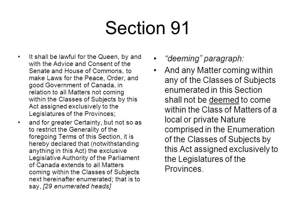 Section 91 deeming paragraph: