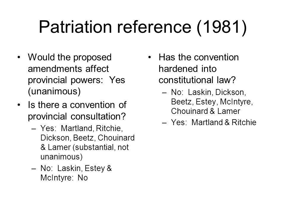 Patriation reference (1981)