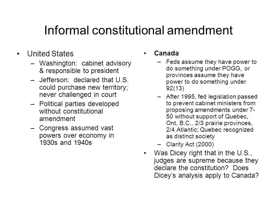 Informal constitutional amendment