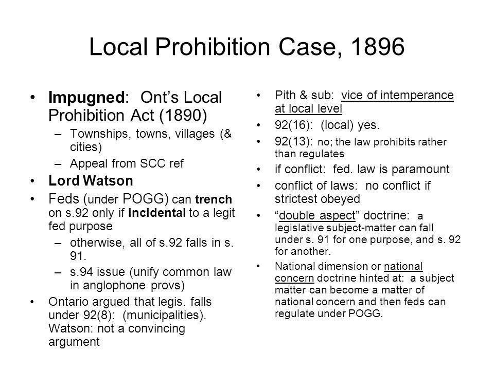Local Prohibition Case, 1896