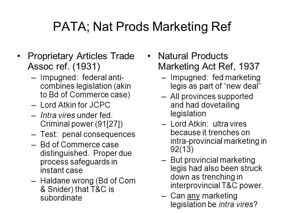 PATA; Nat Prods Marketing Ref