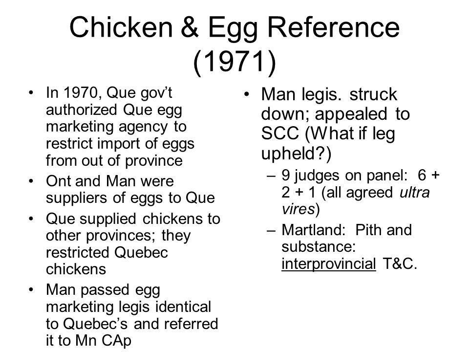 Chicken & Egg Reference (1971)