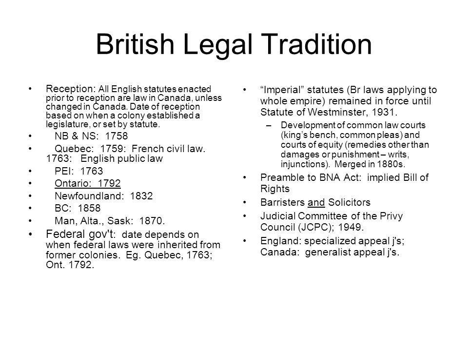 British Legal Tradition