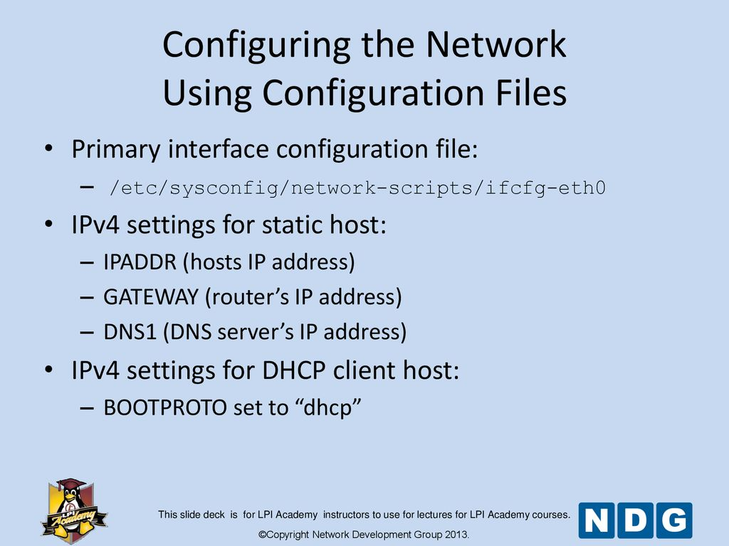 Module 12 Network Configuration - ppt download