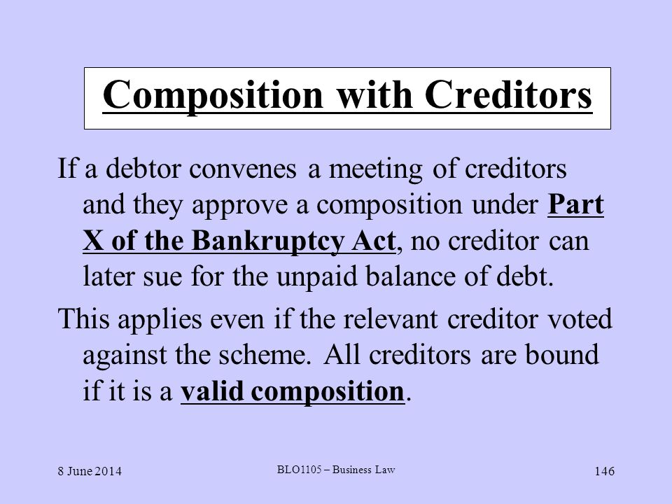 Composition with Creditors