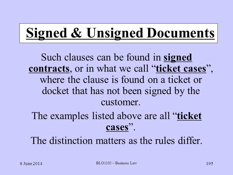 Signed & Unsigned Documents