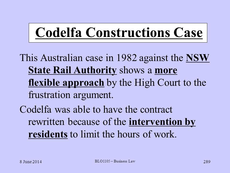 Codelfa Constructions Case