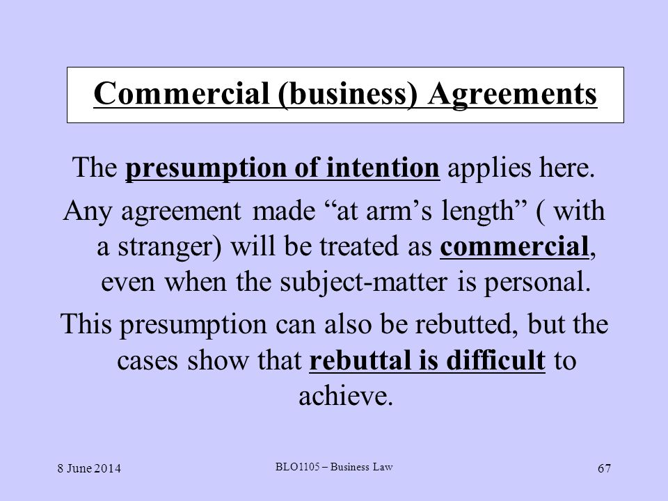 Commercial (business) Agreements
