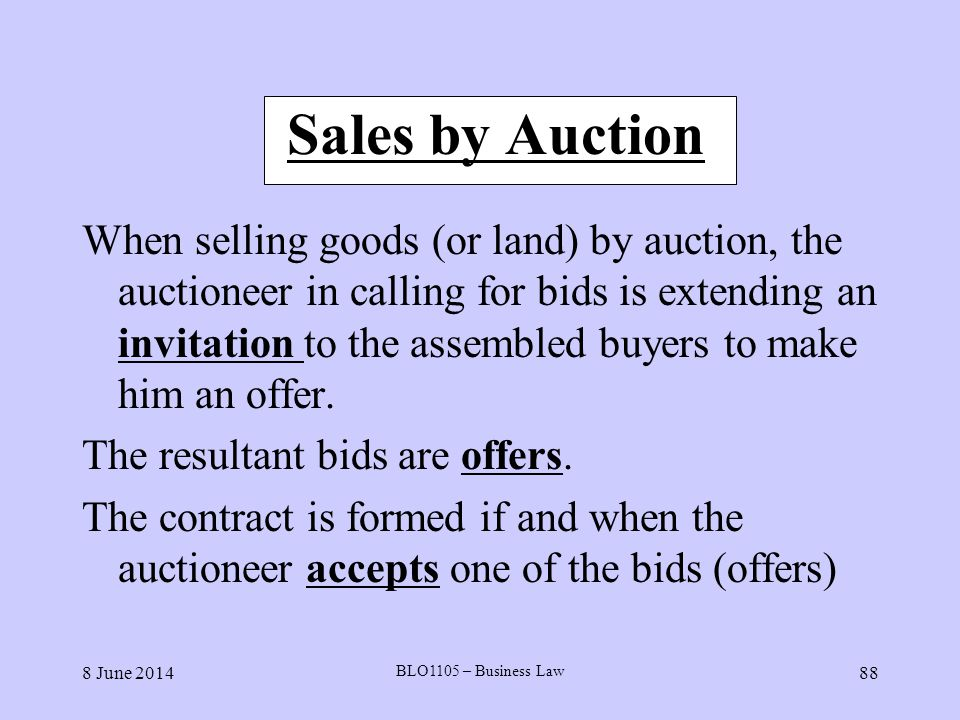 Sales by Auction