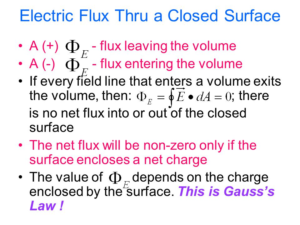 Electric Flux Thru a Closed Surface
