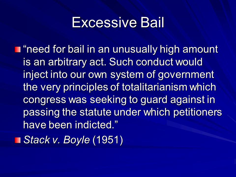 Excessive Bail